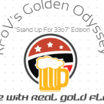 "Golden Odyssey: a 33o7 Special Edition Beer now available at Hikenk. ""You won't be legless for much longer!"""