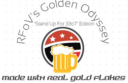 """Golden Odyssey: a 33o7 Special Edition Beer now available at Hikenk. """"You won't be legless for much longer!"""""""